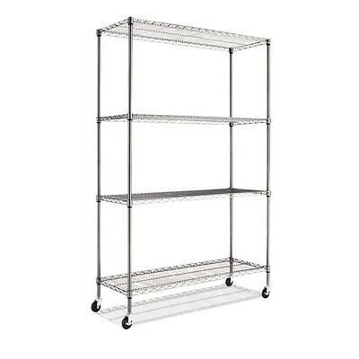 Alera Complete Wire Shelving Unit with Caster  Brand New FREE SHIPPING