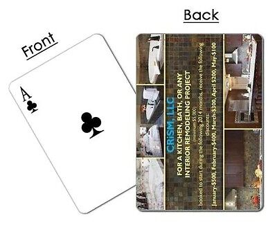 Poker Playing Cards personalized w/ Photos/Text*Great for Personal or Business