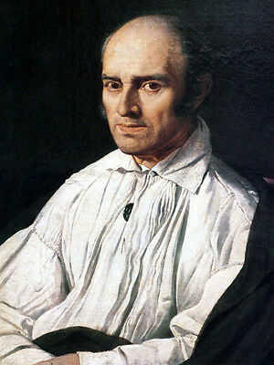 Art Oil painting Ingres - male portrait Peter Desmarest in white coat canvas