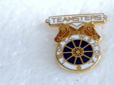TEAMSTERS UNION LOGO, - BABGE SIZE 7/8 IN. HARD FIRED PORCELAIN TACK PIN