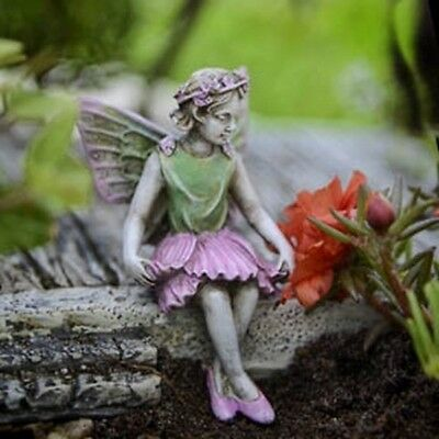 "2.75"" My Fairy Gardens Mini Figure - Eve - Sitting Miniature Figurine Decor"