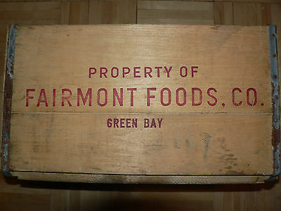 Antique Fairmont Foods, Co. Green Bay, Wis. Awesome Wooden Produce Crate Box