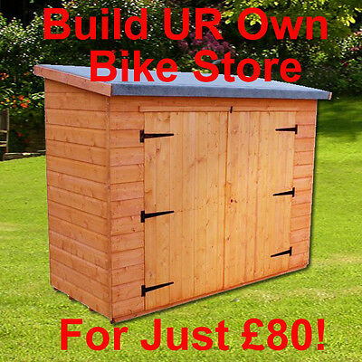 Bike Shed, Garden Shed, Storage Bulild Your Own Plans! Lean To 2.4m X