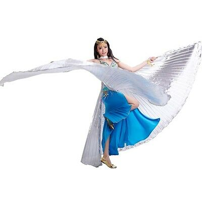 AU New Egyptian Belly Dance Costume Lame Opening Isis Wings BLOWOUT SALE Colours