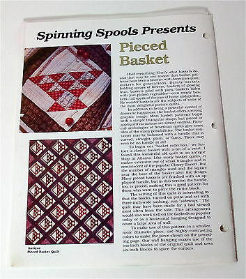 Spinning Spools quilt patterns and templates