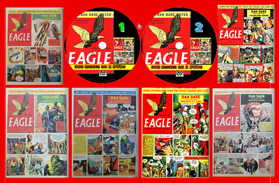 Eagle Comics 420 issues including 25 Boys World, viewing software on 2 DVDs