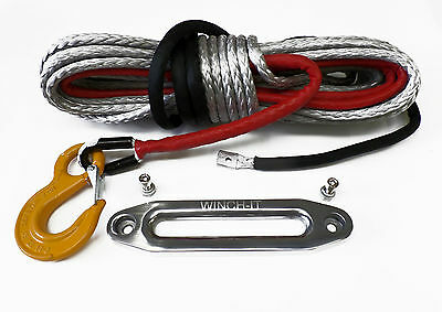 Synthetic Winch Rope & Hawse 30metre 11mm   Dyneema SK75 self recovery