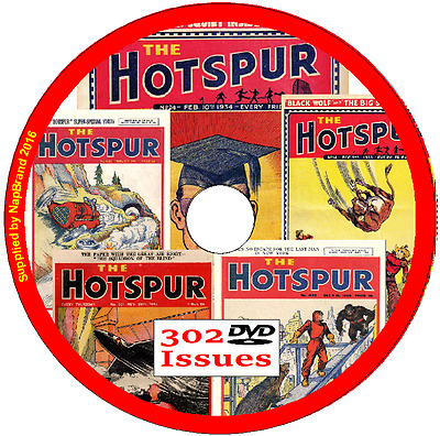 HOTSPUR Comics on DVD 302 issues original series (1933-1949)  (5)