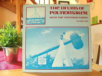 """The Drums Of Poundmaker Vol.1 with Tootoosis Family""   LP  Vinyl"