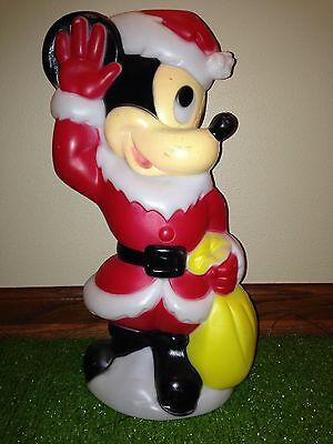 """Vintage Empire Disney 15""""Christmas Mickey Mouse Lighted Blow Mold Decoration"""