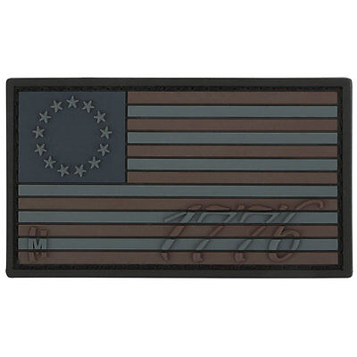 PVC Morale Patch - MAXPEDITION - 1776 BETSY ROSS US FLAG - STEALTH color