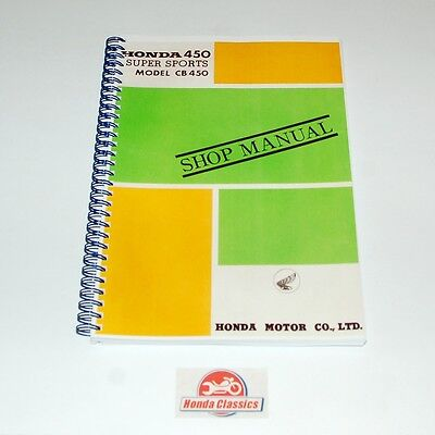 Honda Factory Workshop Shop Manual Book CB450 DOHC Twin, Reproduction. HWM005