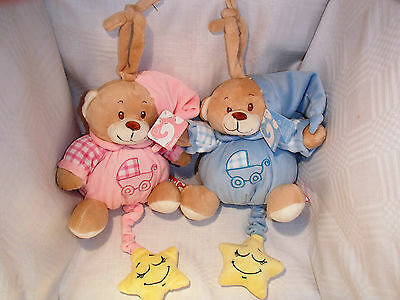 Lullaby Teddy / Soft Toy For New Baby Girl Or Boy - Made By 'gosh' Bnwt