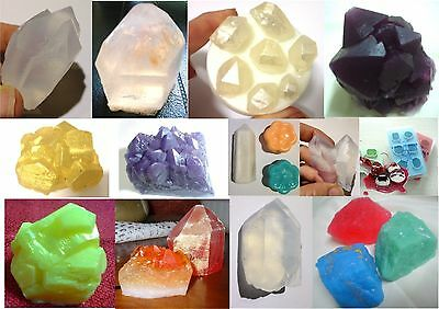 GEMSTONE Crystal Gem Diamond SILICONE SOAP MOULD - Candles/Melts,Hand Made Mold