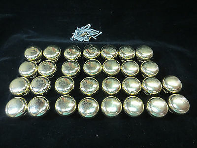"Lot Of 30 Gold Color Cast Metal 1.25"" Diameter Drawer Pulls***free Shipping***"