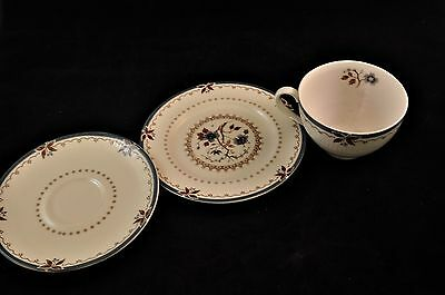 Vintage Royal Doulton Old Colony Teacup Saucer & Bread / Snack Plate 3pc