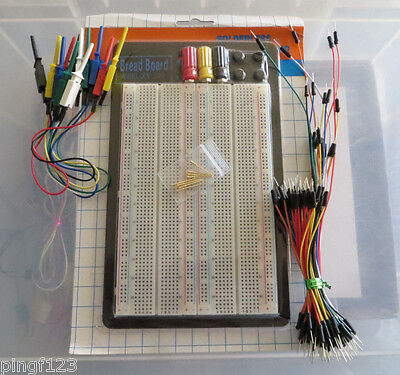 1660 pts solderless breadboard w  smd jumper and wire combo