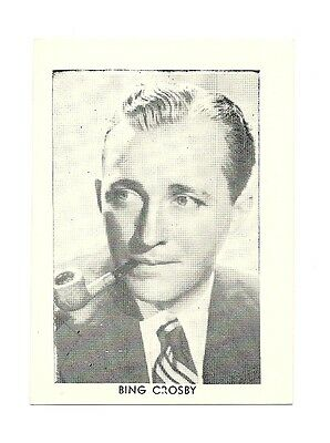 """2.5""""X3.5""""  B/W publicity photo from 40's-50's VG Condition Bing Crosby"""
