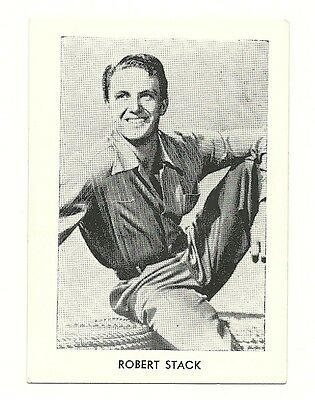 """2.5""""X3.5""""  B/W publicity photo from 40's-50's VG Condition Robert Stack"""
