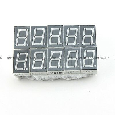 "25 pcs Red 7 Segment 0.5"" LED Display Digital Tube Common Anode 1 Bit"