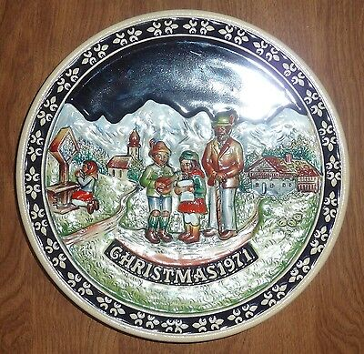 SCHMID - THE BAVARIAN CHRISTMAS PLATE - FIRST ED 1971 - *CHRISTMAS IN THE TYROL*