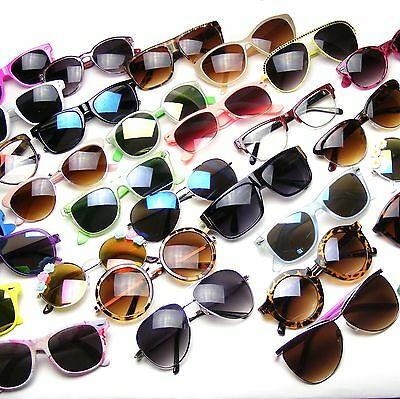50 Mixed Lot WHOLESALE Resale Wayfarer Aviator Round Clear Glasses Sunglasses