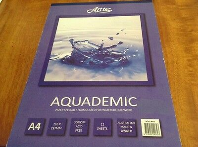 Arttec Aquademic A4 300Gsm Acid Free Paper 12 Sheets