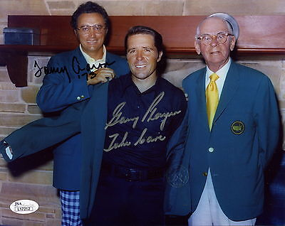 GARY PLAYER+TOMMY AARON HAND SIGNED 8x10 PHOTO       MASTERS CHAMPIONS    JSA