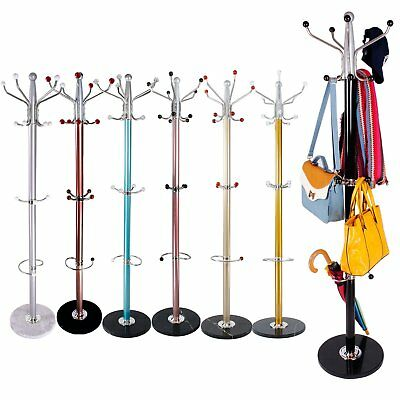 Colorful Clothes Umbrella Bag Hat and Coat Stand Rack Hanger with Marble Base