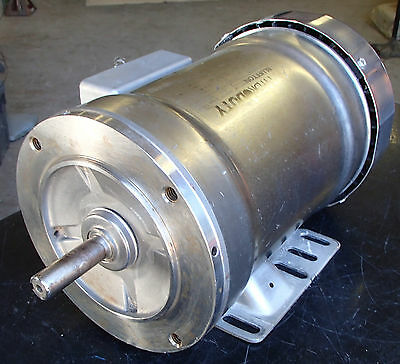 BLUFFTON HYDRO DUTY  3Ph 1HP Stainless Washdown Motor Used T/O