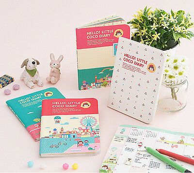 2015 Hello Little CoCo Diary Clear Cover Dated Pocket Journal Planner Scheduler