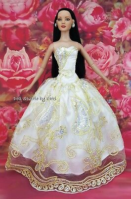 "Lace Fashion Clothe Evening Dress Outfit Gown For Tonner American Model 22"" Doll"