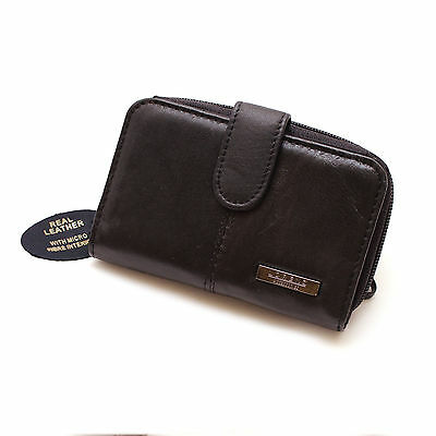 Womens Ladies Leather Purse Wallet Black NEW WITH TAGS