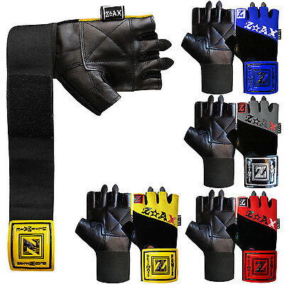 Leather Weight Lifting Gloves Gym Fitness Wrist Support Gloves Body Building