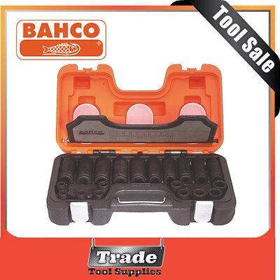 "Bahco  20 piece 1/2"" Drive Long & Standard Impact Socket Set D-DD/S20"