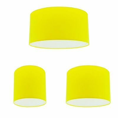Yellow Cotton Drum Lampshade Ceiling Light Lightshade Pendant Lamp Shade Fitting