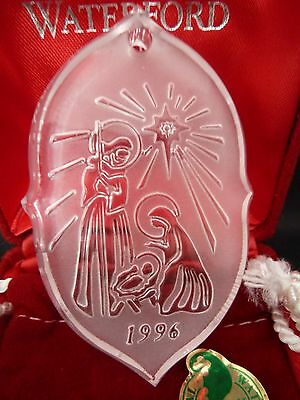 Waterford Crystal Songs of Christmas Silent Night Ornament 1996 Signed 1st MIB