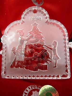 Waterford Crystal Joys of Winter 1998 Ornament Trimming the Tree 1st Edition MIB
