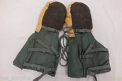 NEW USAF N-4B EXTREME COLD WEATHER ARCTIC MITTENS WITH WOOL LINER MEDIUM