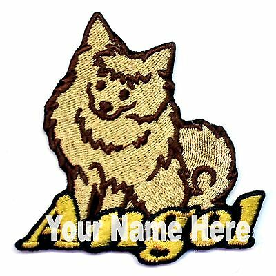 Iron-on Pomeranian Dog Patch With Name Personalized Free