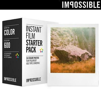 Impossible Project Instant Color Film GOLD FRAME for Polaroid 600 ONE STEP