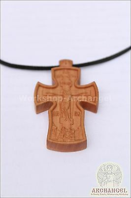Orthodox wooden carved Neck cross #2