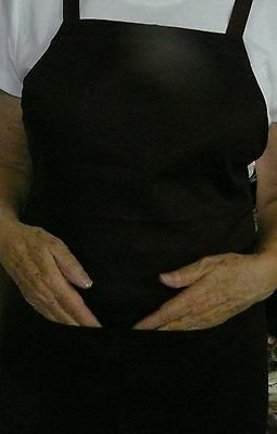 Black Unisex Bib Apron with POCKET Chef/Bistro/Cafe/Waiter- Made here in QLD