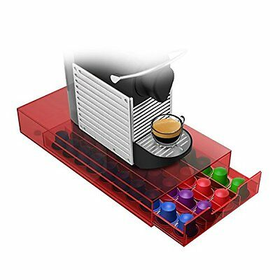 "Mind Reader NESMODTRY-RED ""Plexus"" 36 Capacity Coffee Pod Drawer for Nespresso ."