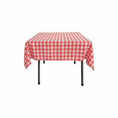 LA Linen Square Checkered Tablecloth 52 By 52-Inches. Made in USA
