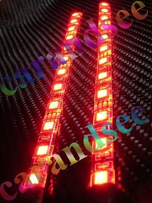 2 Bande Auto Moto A 12 Led Rouge 20 Cm Smd5050 12 Volts Eclairage Tuning