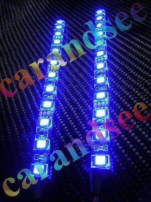 2 Mini Bande A 12 Led Bleu 20 Cm Smd5050 12 Volts Eclairage Tuning