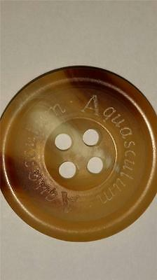 "Replacement Horn button for Aquascutum Trenchcoat, 1"" Closure,  Etched Logo"