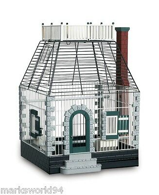 NEW Prevue Featherstone Heights White Stone Cottage Bird Cage House