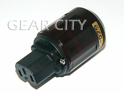 ppl40 Gold IEC C13 Mains Power Plug Female Copper Connector Cable Cord HiFi